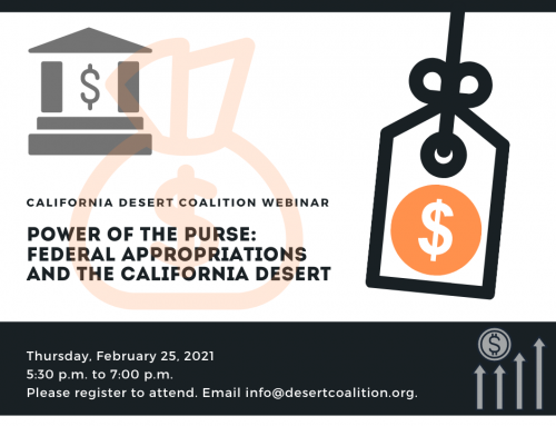 Power of the Purse: Federal Appropriations & the California Desert